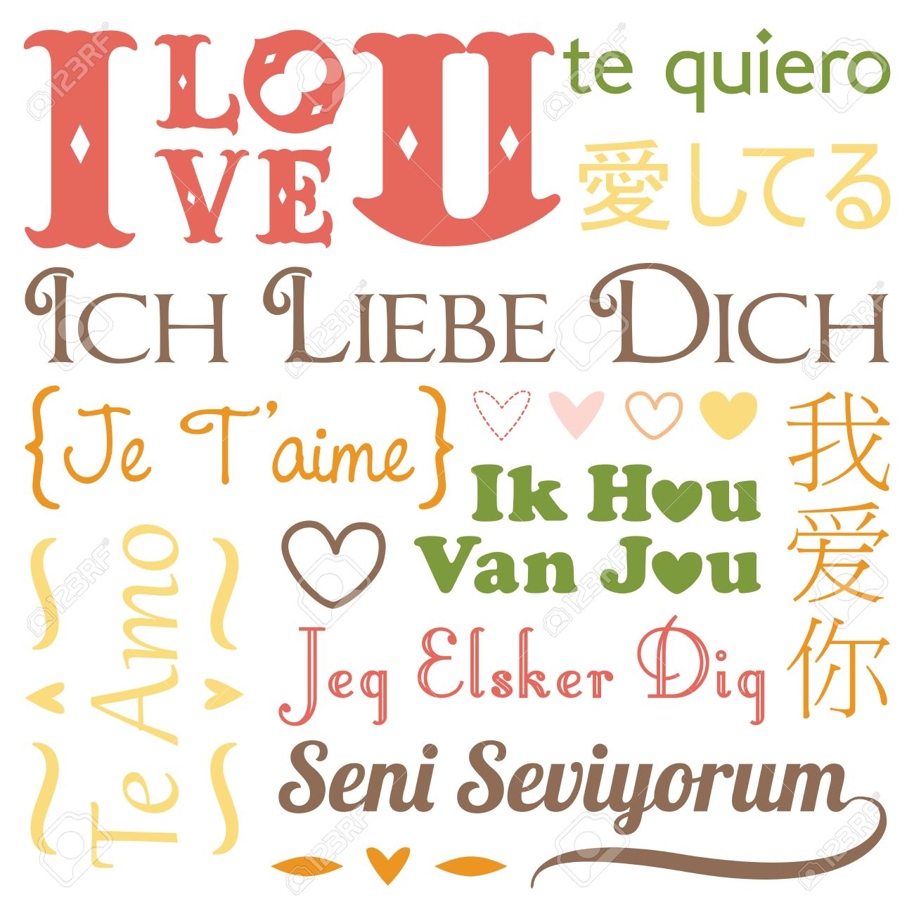 A vector illustration of i love you word in different languages a vector illustration of i love you word in different languages stock vector 16459783 thecheapjerseys Choice Image