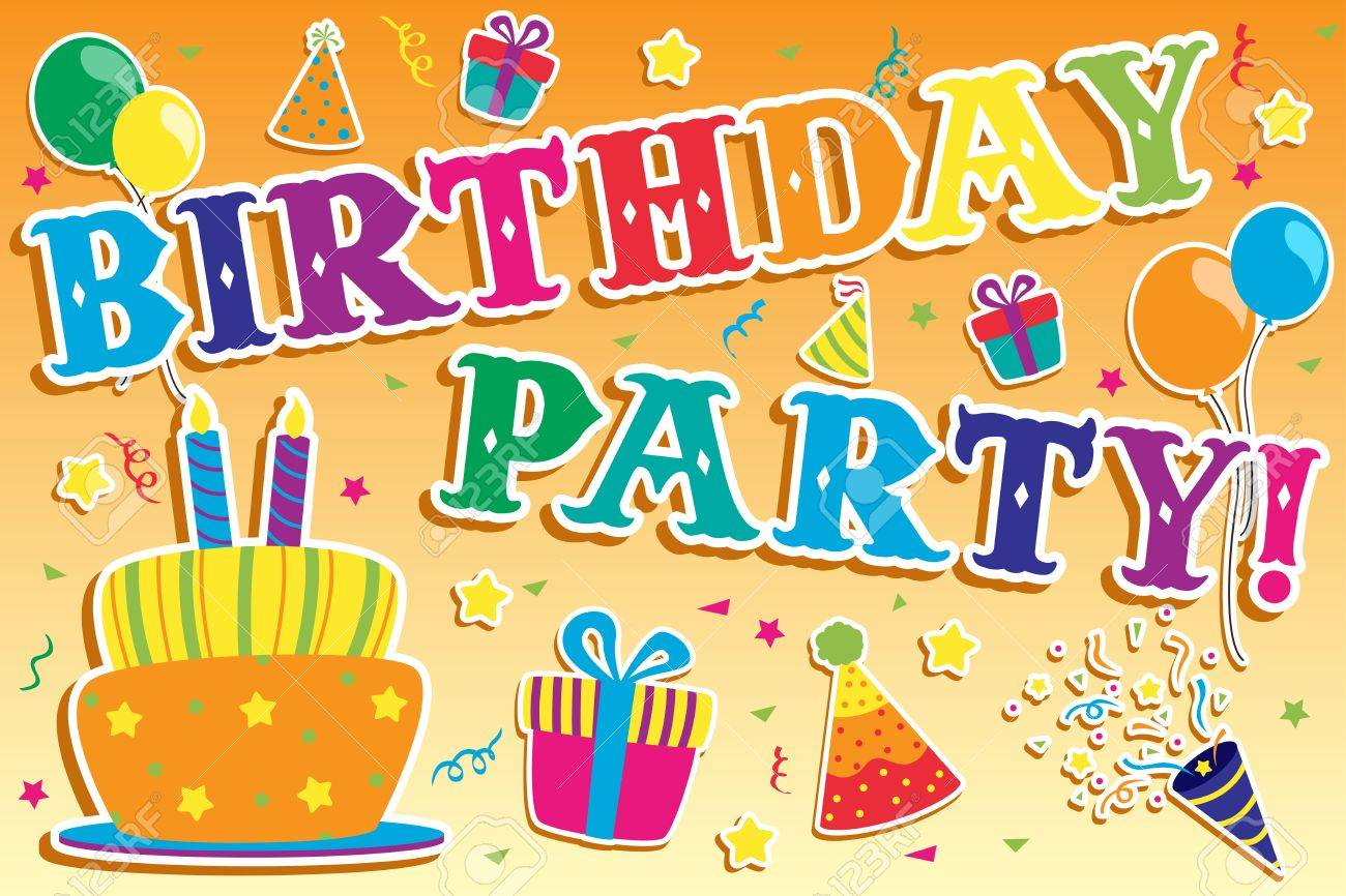 A Illustration Of Happy Birthday Invitation Royalty Free Cliparts – Happy Birthday Invite