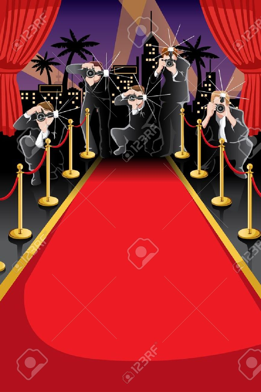 A Illustration Of Red Carpet And Paparazzi Background With Copyspace Royalty Free Cliparts Vectors And Stock Illustration Image 18725682