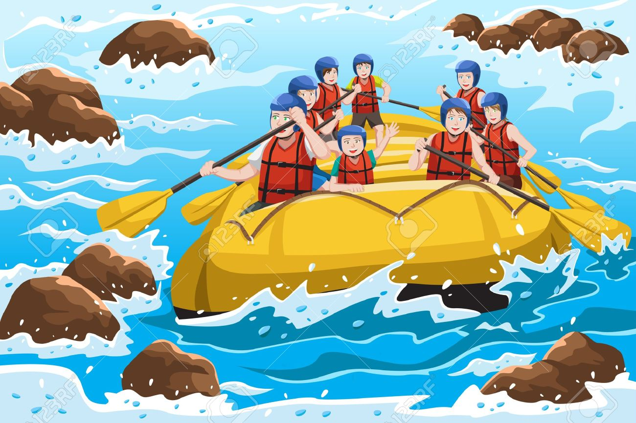 2482 Rafting Stock Vector Illustration And Royalty Free Rafting Clipart
