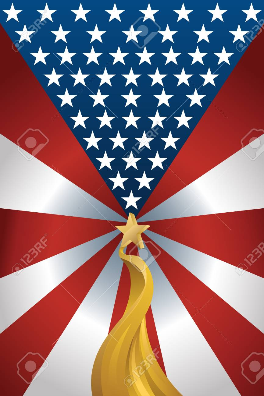 A vector illustration of American flag background design Stock Vector - 20175393