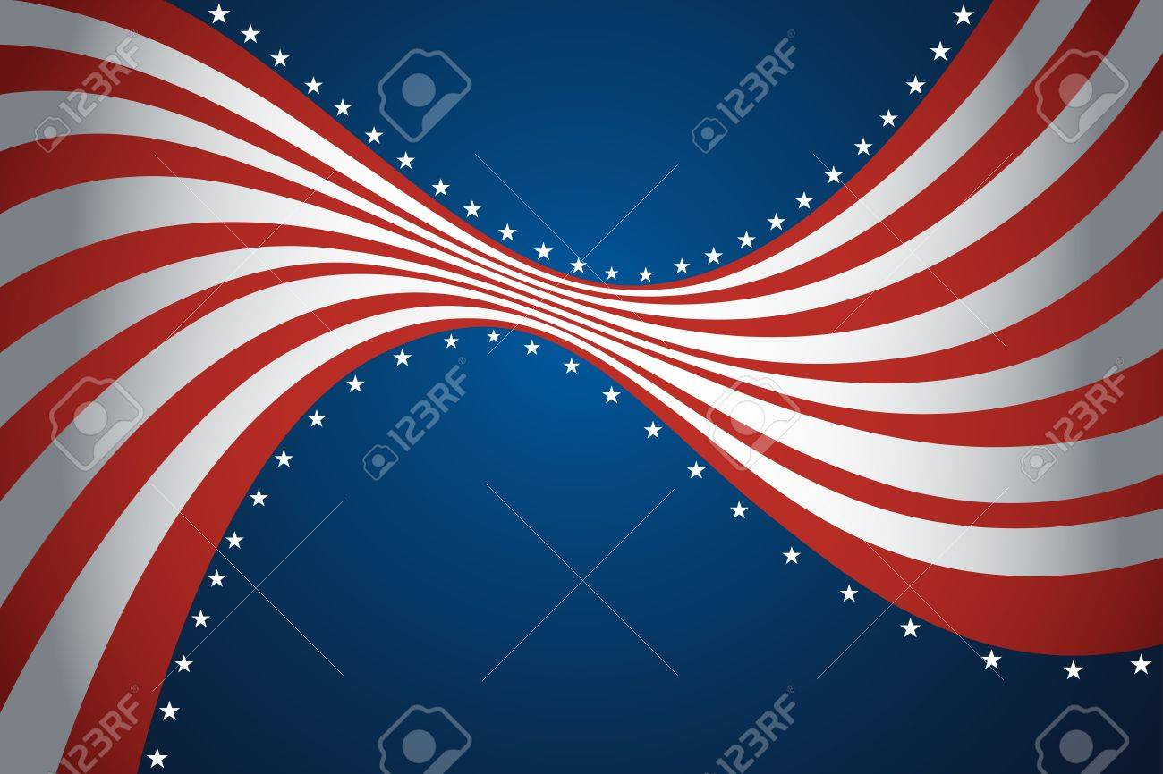4abfd61db1c A vector illustration of American flag background design Stock Vector -  20175392