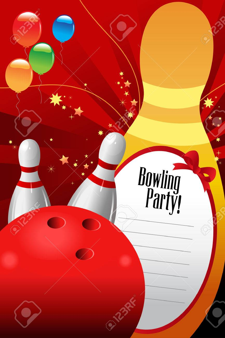 Bowling Party Invitations For Kids Image collections - Party ...