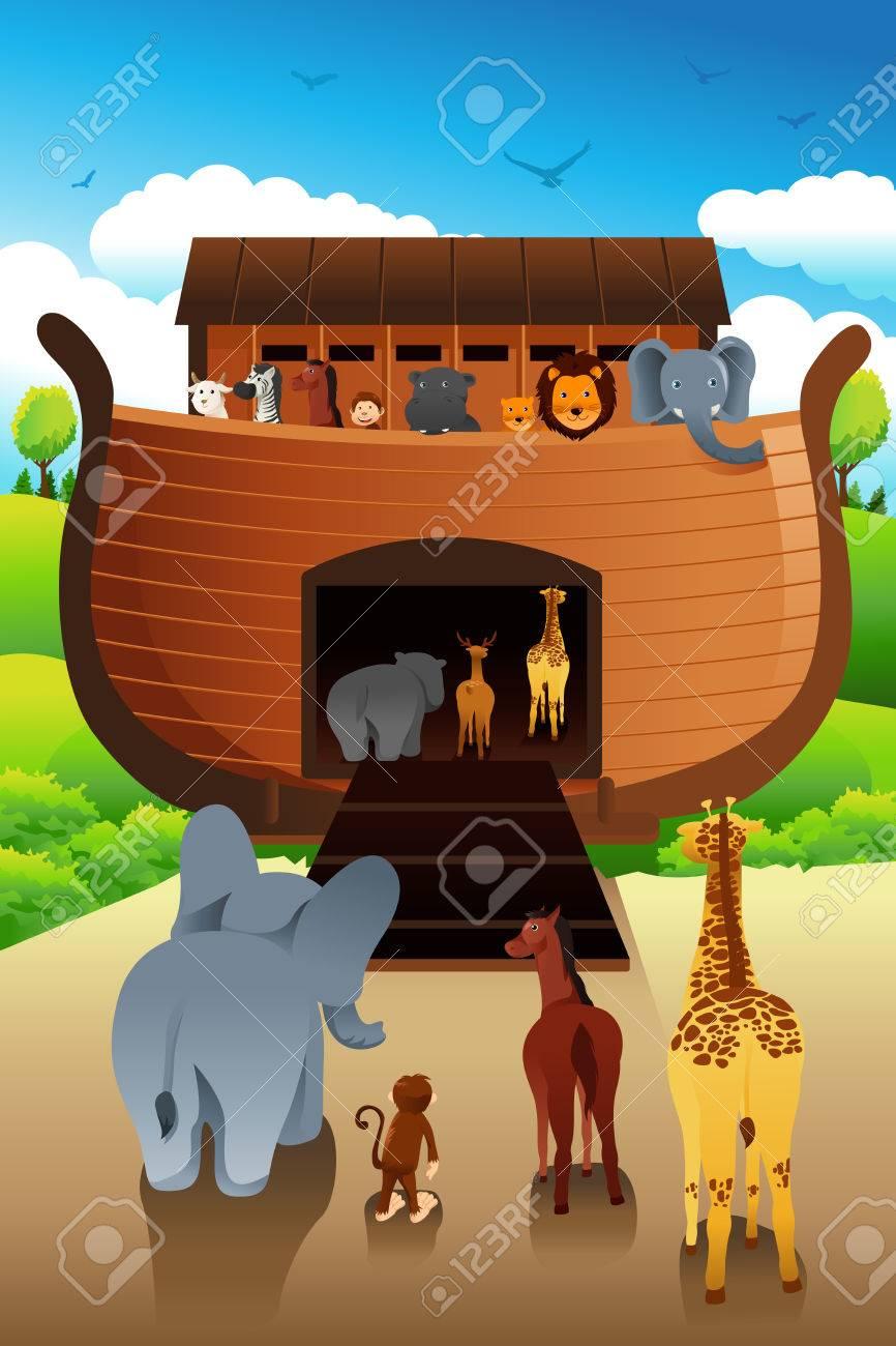 a vector illustration of noahs ark royalty free cliparts vectors