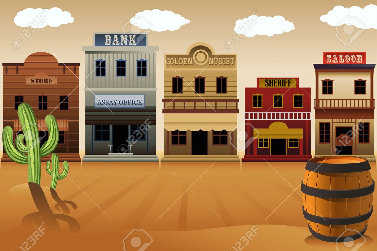 a illustration of old western town royalty free cliparts vectors rh 123rf com old western town clipart old west wagon clipart