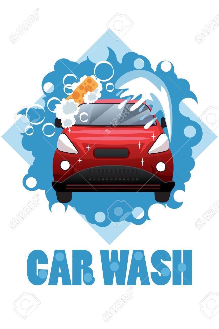 A Vector Illustration Of Car Wash Poster Design Ilustraciones ...