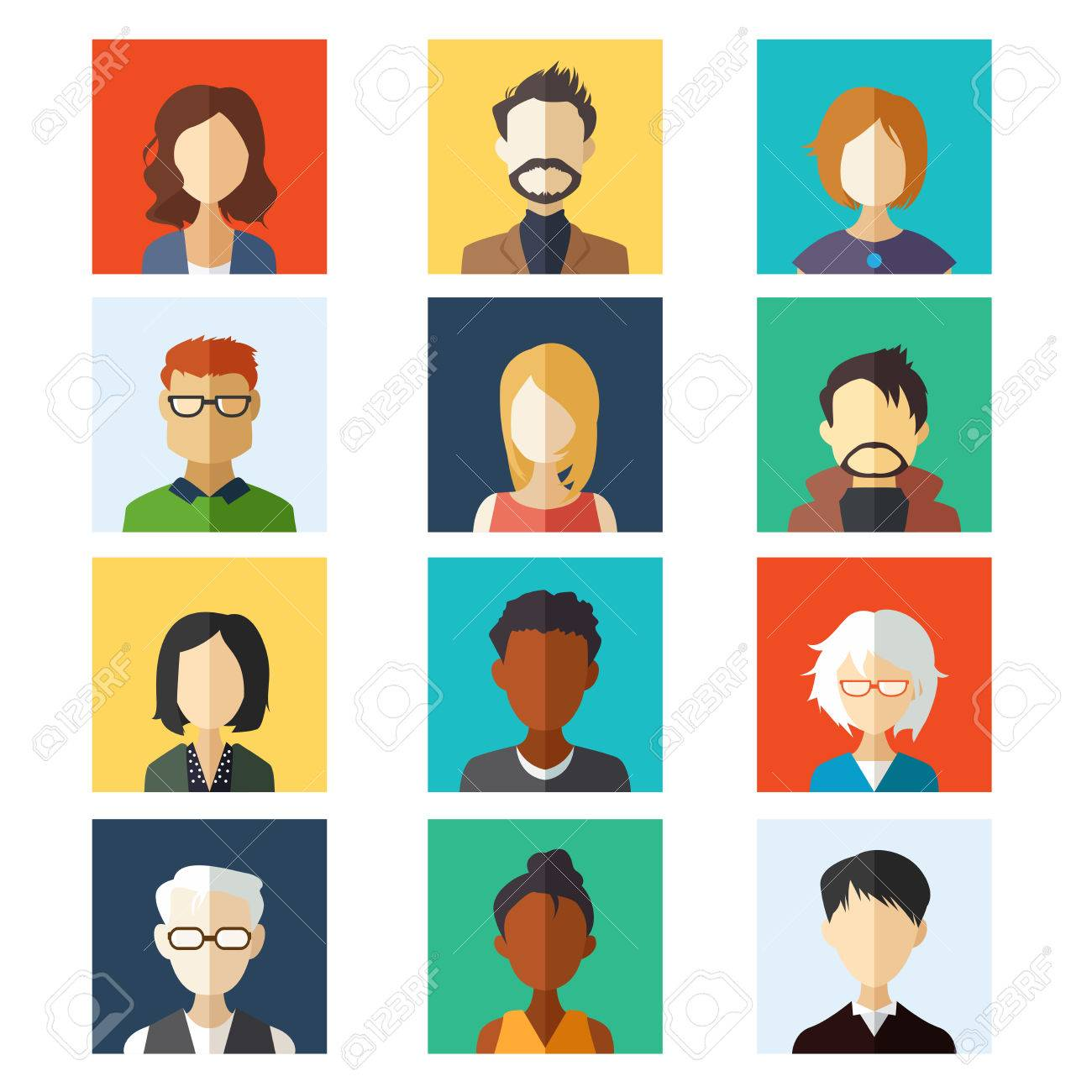 A vector illustration of avatar icon sets Stock Vector - 42723301