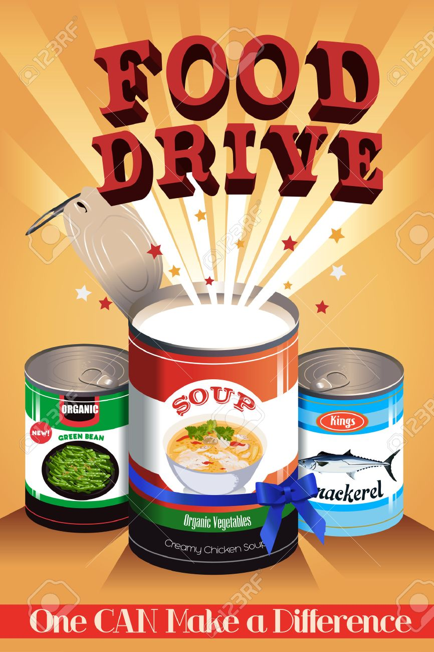 A vector illustration of food drive poster design Stock Vector - 48780108