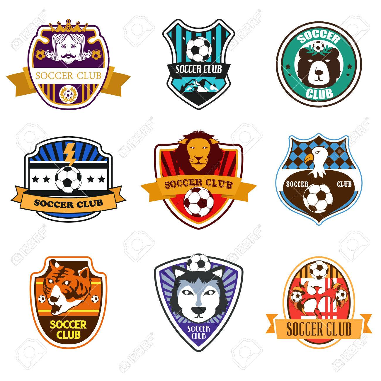 Football team logo stock photos royalty free business images a vector illustration of soccer club logos biocorpaavc Choice Image
