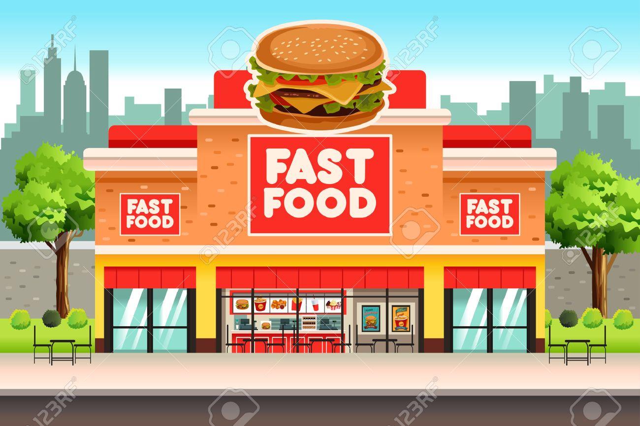 A vector illustration of Fast Food Restaurant - 69367031