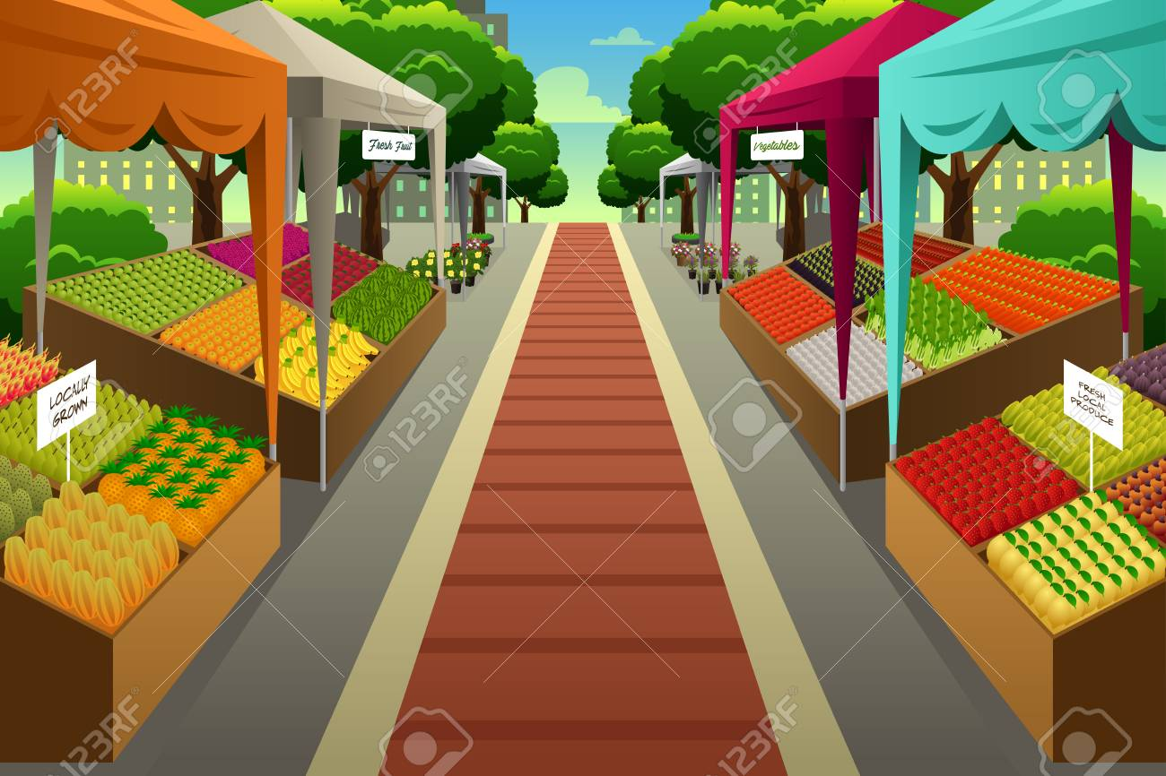 A vector illustration of Farmers Market Background - 80716847