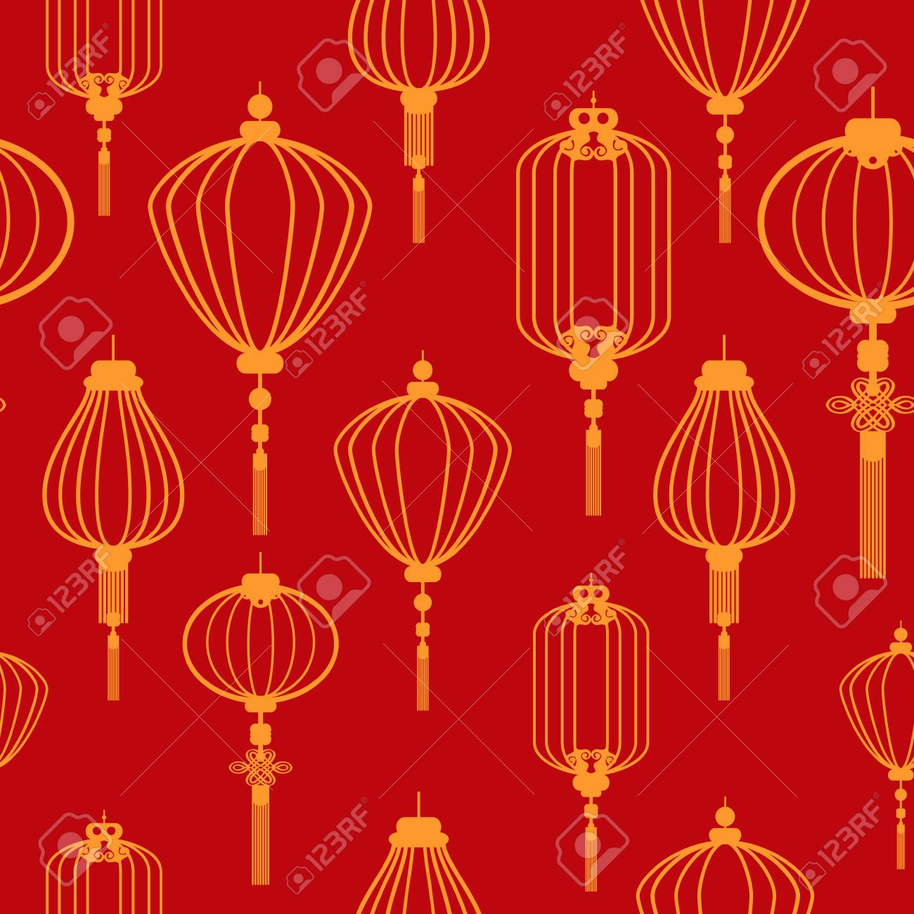 A vector illustration of Chinese new year wallpaper seamless..