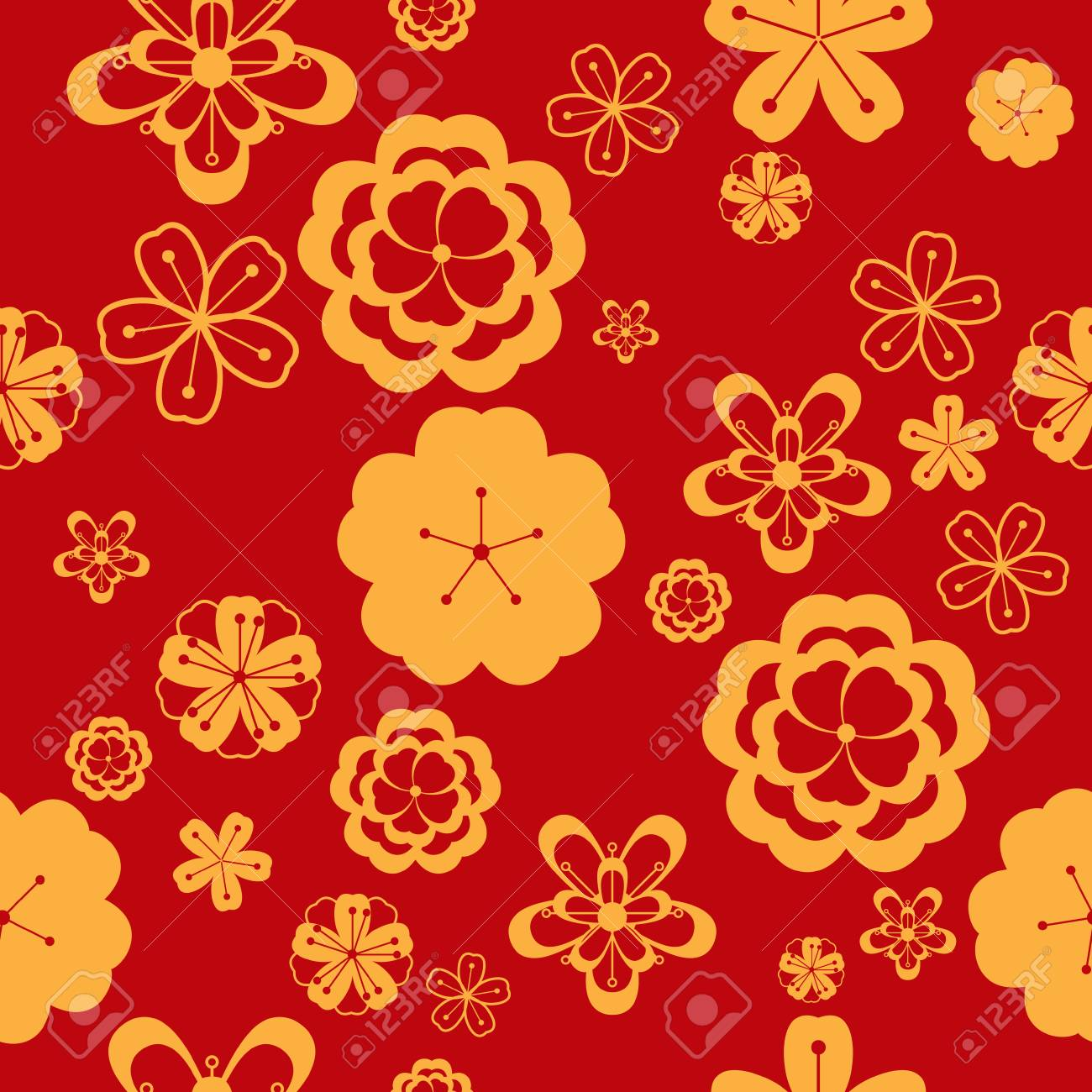 A Vector Illustration Of Chinese New Year Wallpaper Seamless