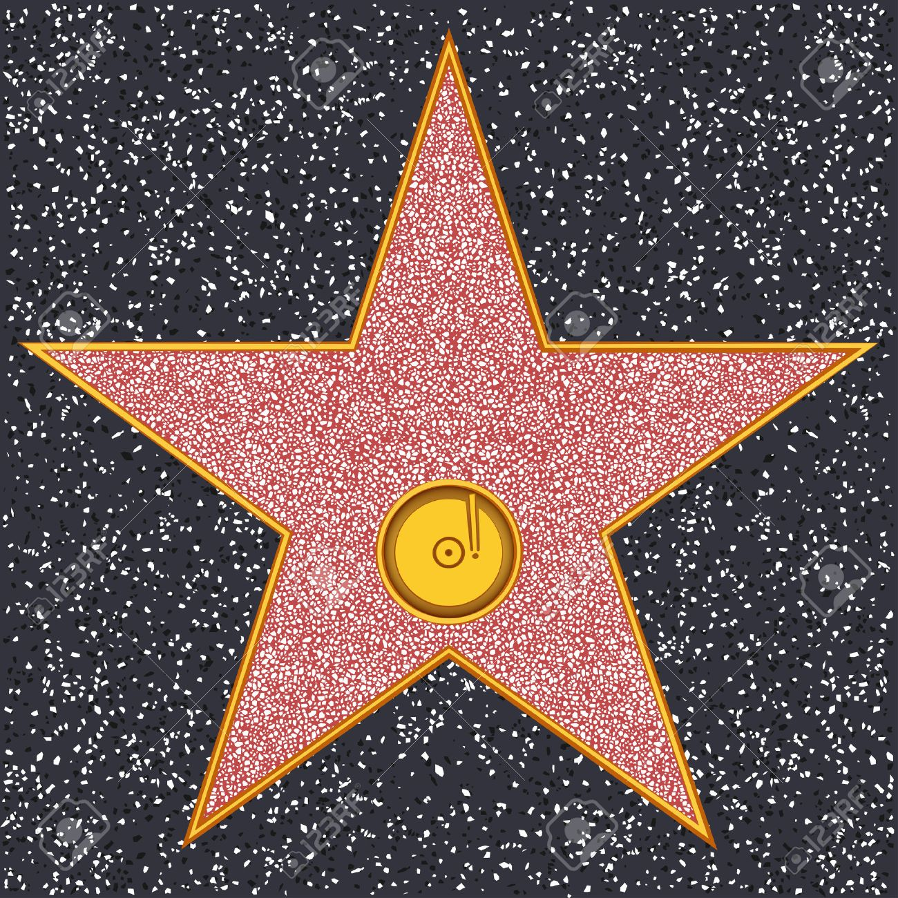 hollywood walk of fame phonograph record representing audio rh 123rf com hollywood star clipart Hollywood Fonts Clip Art