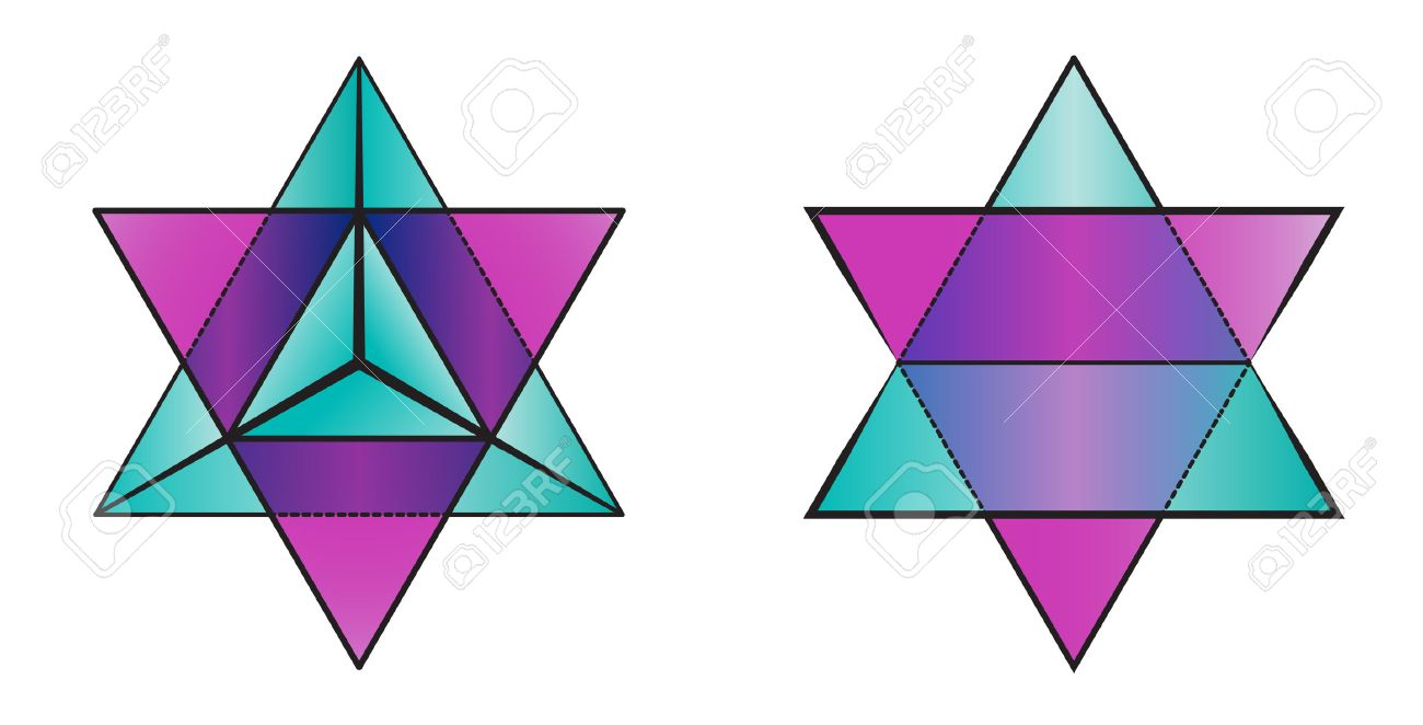 geometry symbol of merkaba - two pyramids Stock Vector - 30487545