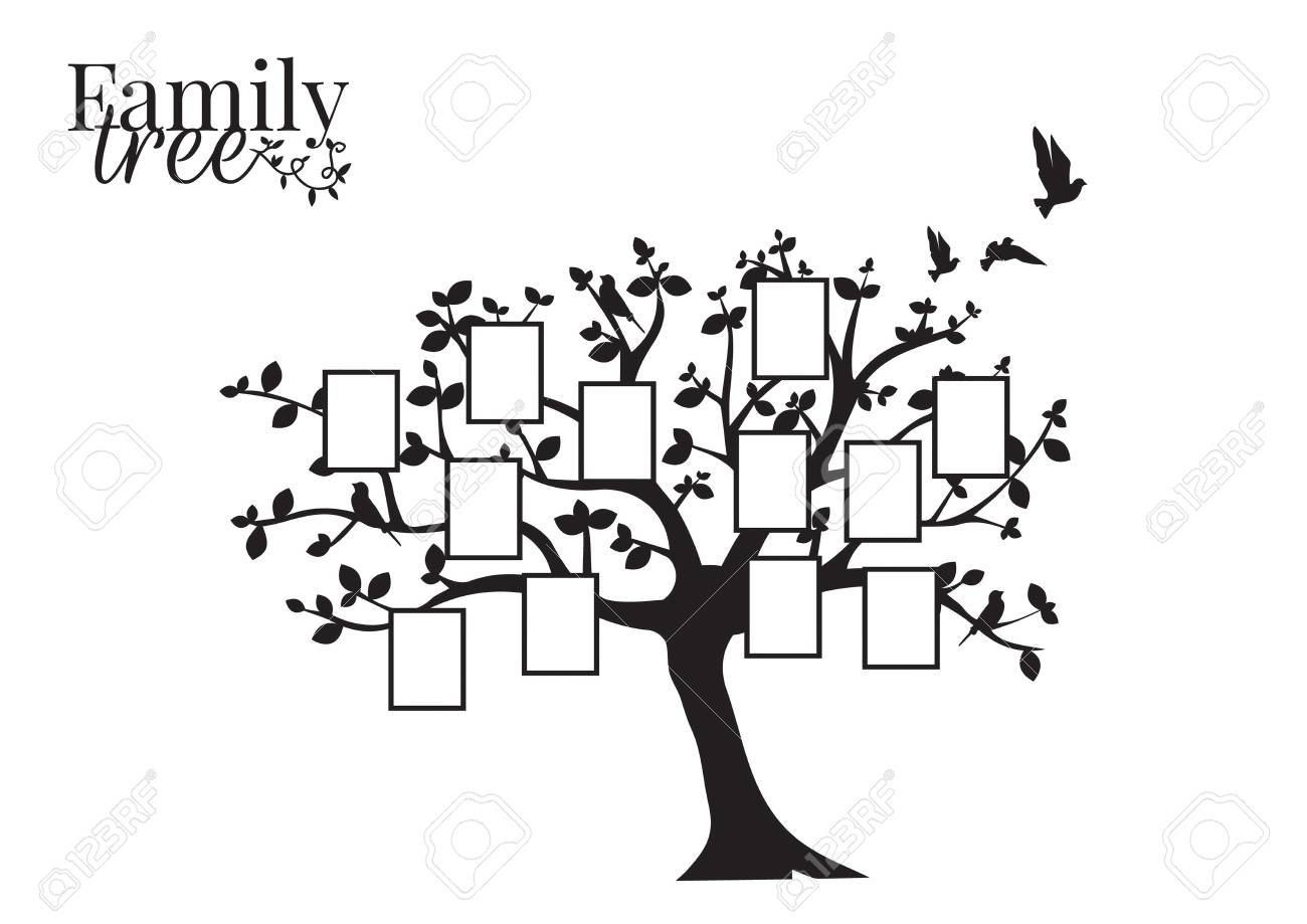Family Tree Vector With Picture Frame Wall Decals Wall Decor Royalty Free Cliparts Vectors And Stock Illustration Image 127393510