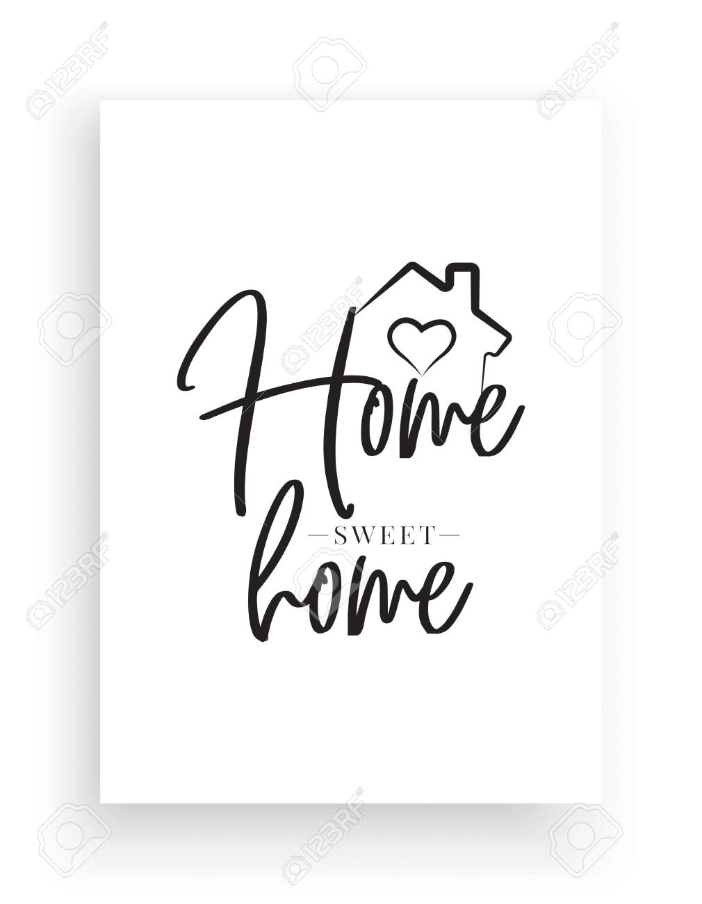 Home Sweet Home Wall Decor.Minimalist Wording Design Home Sweet Home Wall Decor Wall