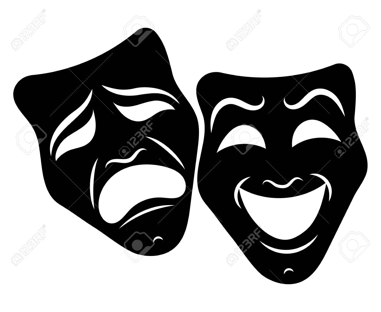 Theater Masks Drama And Comedy Illustration For The Theater Royalty Free Cliparts Vectors And Stock Illustration Image 129541624 Turquoise drama theatrical mask icon isolated on white background. theater masks drama and comedy illustration for the theater