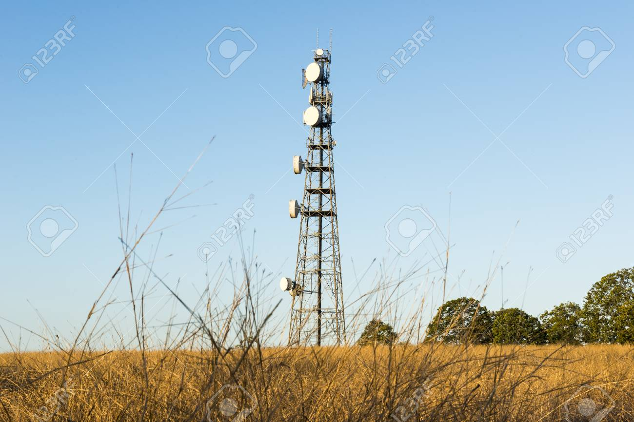 Radio tower in the afternoon at Redbank Plains, Brisbane, Queensland