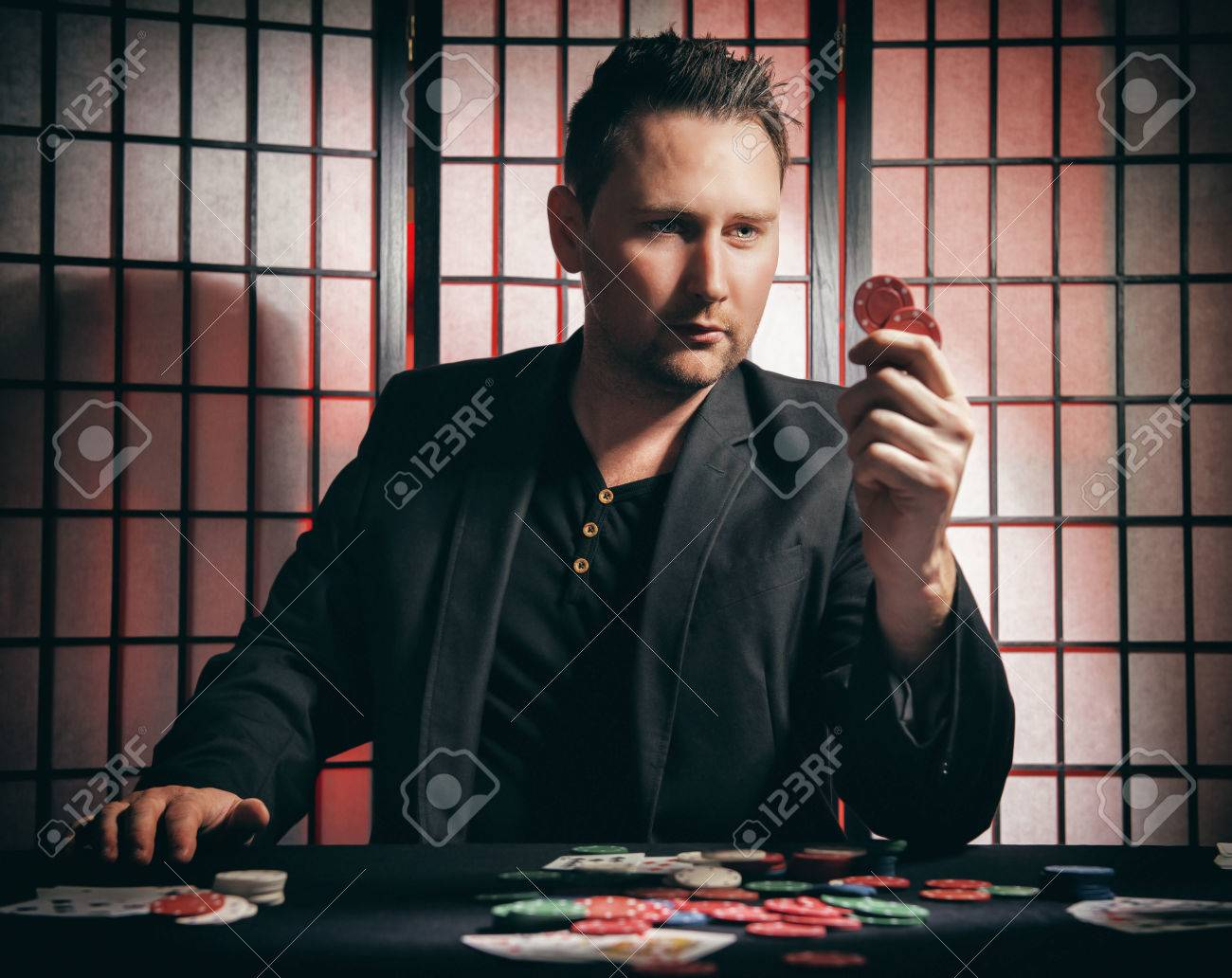 Concept A High Stakes Poker Player Is Winning Big And Feeling Stock Photo Picture And Royalty Free Image Image 65739976