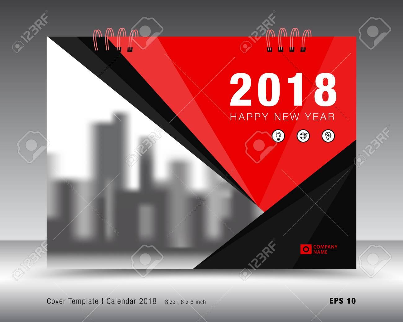 Plantilla De Calendario De Cubierta 2018, Diseño De Folleto De ...