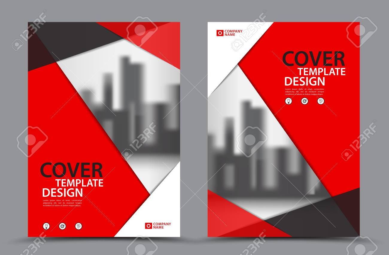 Red color scheme with city background business book cover design red color scheme with city background business book cover design template in a4 brochure layout maxwellsz