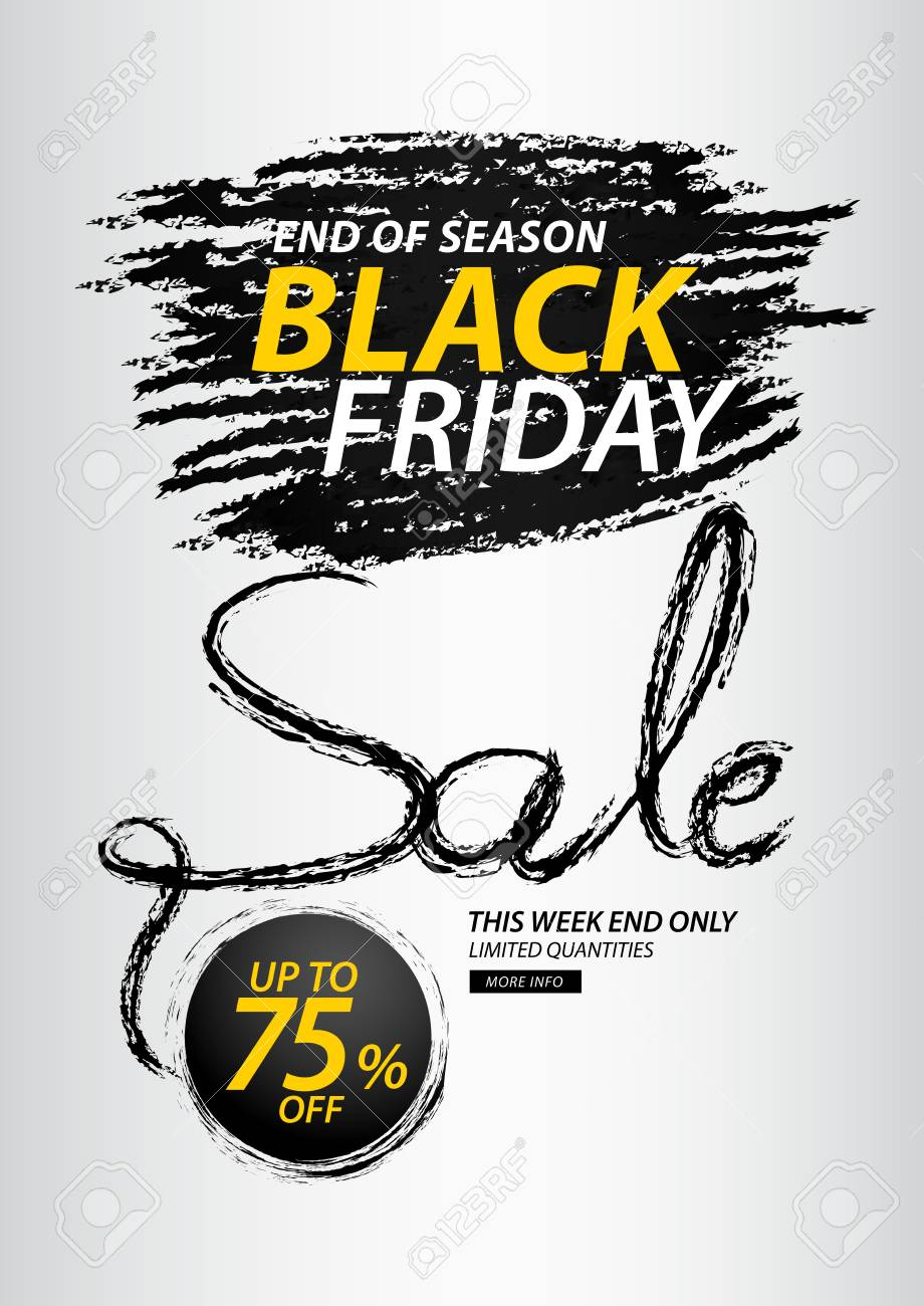8b38199bc612 Black friday sale banner, Discount, promotion poster, advertisement,  marketing, tags,