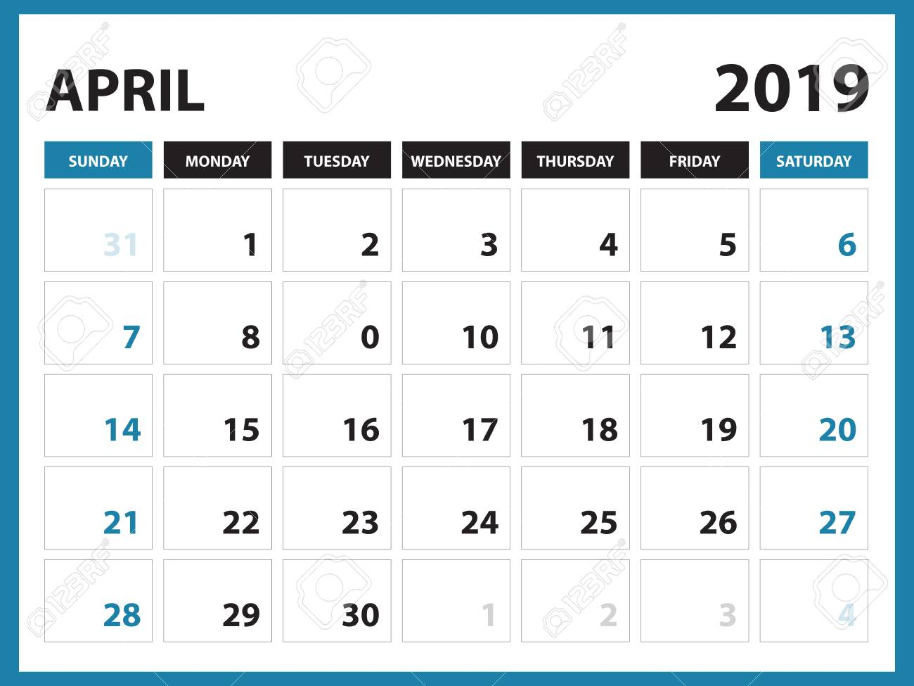 Free Printable Calendar April 2019 Cablo Commongroundsapex Co