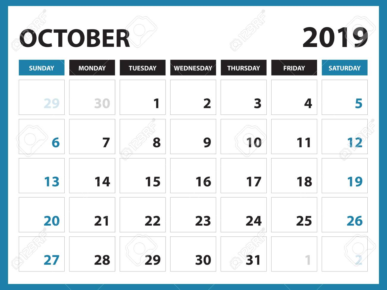 picture about September Printable Calendar named Table calendar for SEPTEMBER 2019 template, Printable calendar,..
