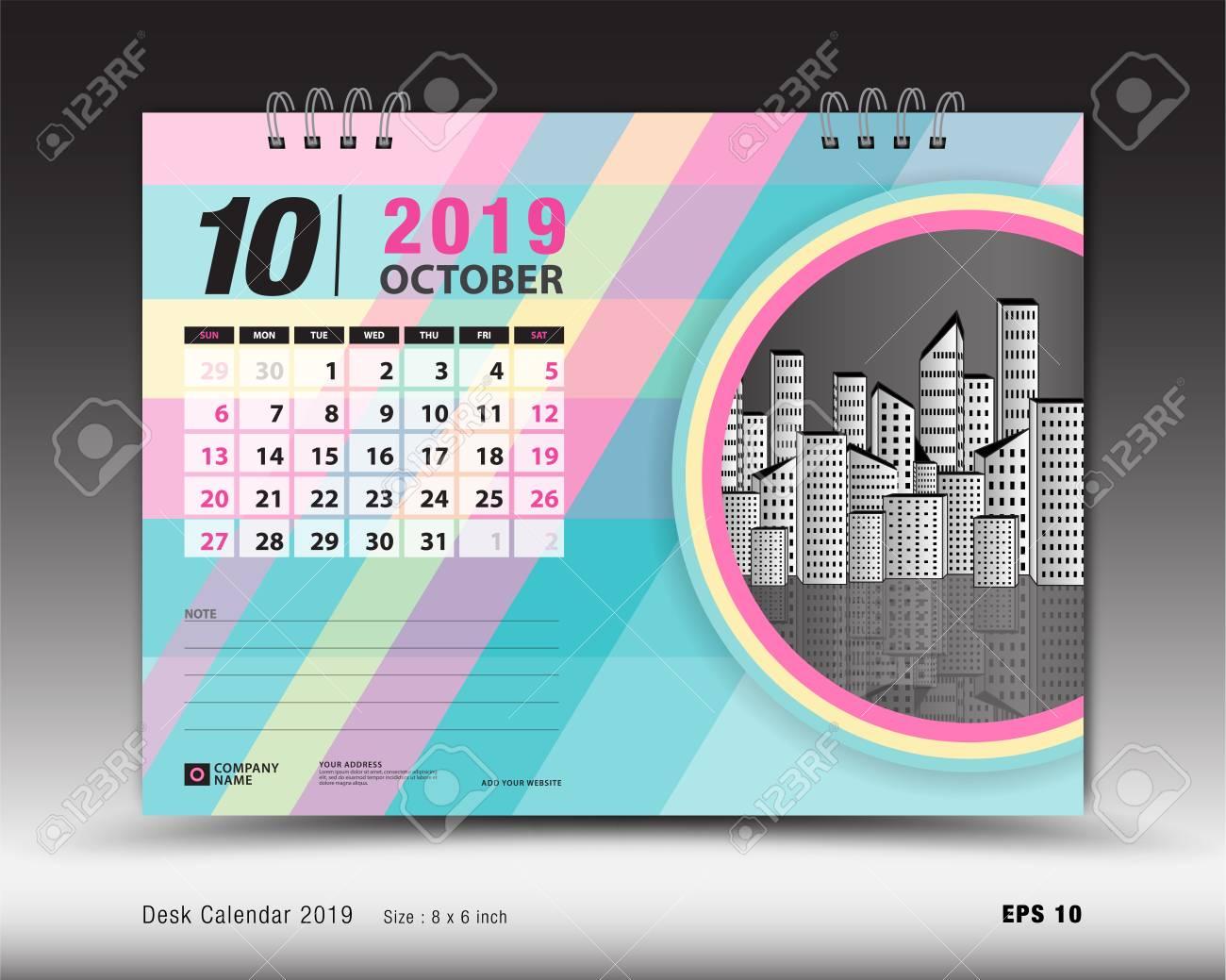 Desk Calendar For October 2019 Template Printable Calendar