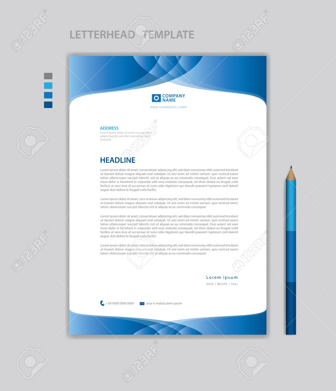 letterhead template  Letterhead template vector, minimalist style, printing design,..