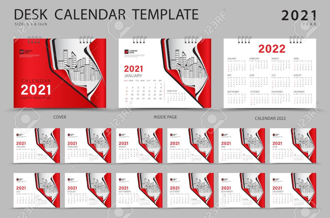 Set Desk Calendar 2021 Template Creative Design Calendar 2022 Royalty Free Cliparts Vectors And Stock Illustration Image 152275975