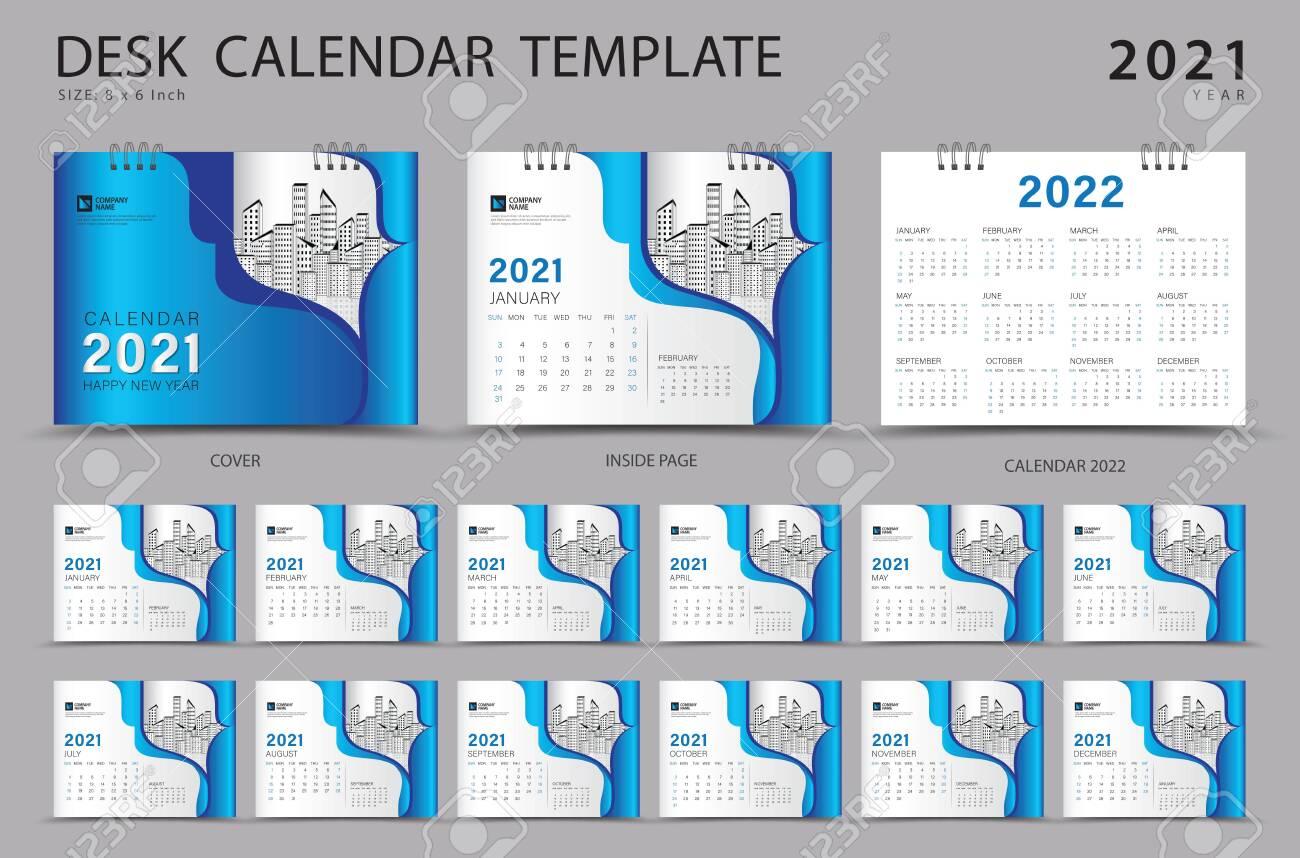 2022 Calendar Cover.Desk Calendar 2021 Set Template With Calendar 2022 Design Orange Royalty Free Cliparts Vectors And Stock Illustration Image 152464728