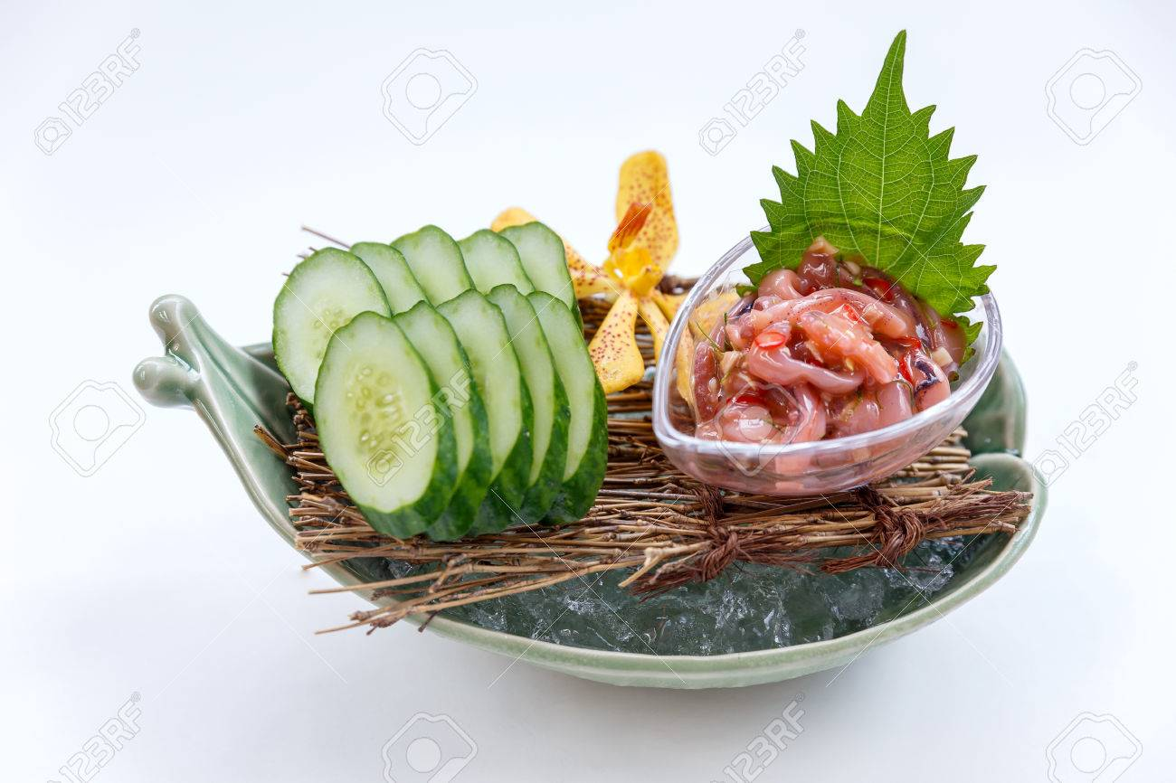 https://previews.123rf.com/images/artitwpd/artitwpd1701/artitwpd170100214/70365141-ika-no-shiokara-japanese-squid-fermented-served-with-sliced-cucumber-in-the-iced-bowl-.jpg
