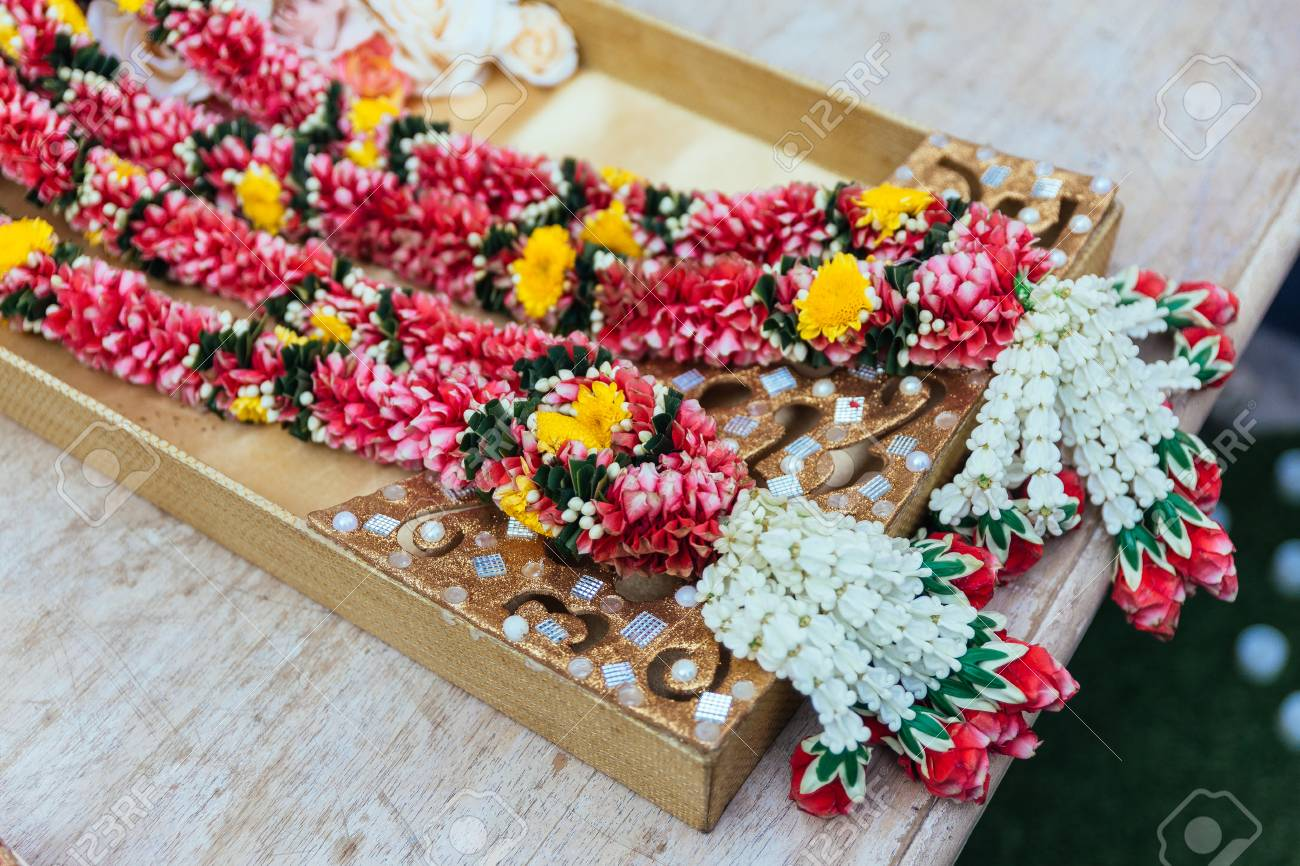 Flower Garlands For Indian Wedding Ceremony In Bangkok Thailand Stock Photo Picture And Royalty Free Image Image 87881673
