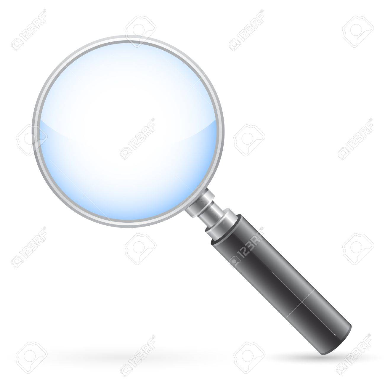 Magnifying glass on white with shadow Stock Vector - 10429207