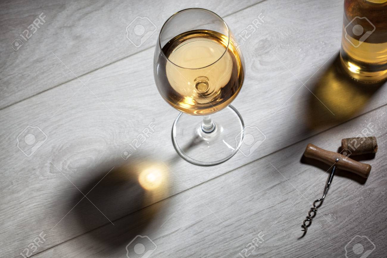 glass table top view. Wonderful Glass Glass Of White Wine On Wooden Table Top View Stock Photo  27264352 Intended Table View