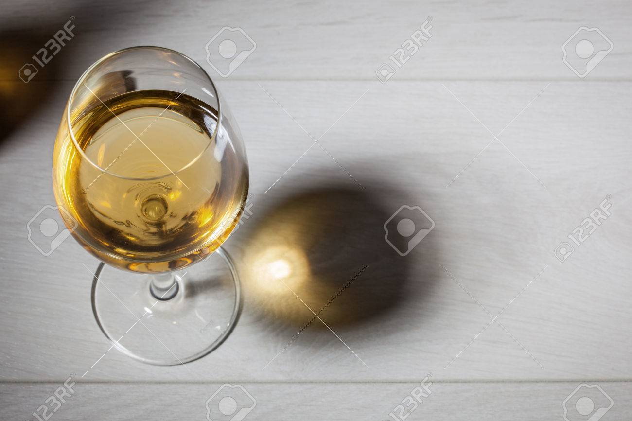 glass table top view. Unique Glass Glass Of White Wine On Wooden Table Top View Stock Photo  27529380 Intended Table View