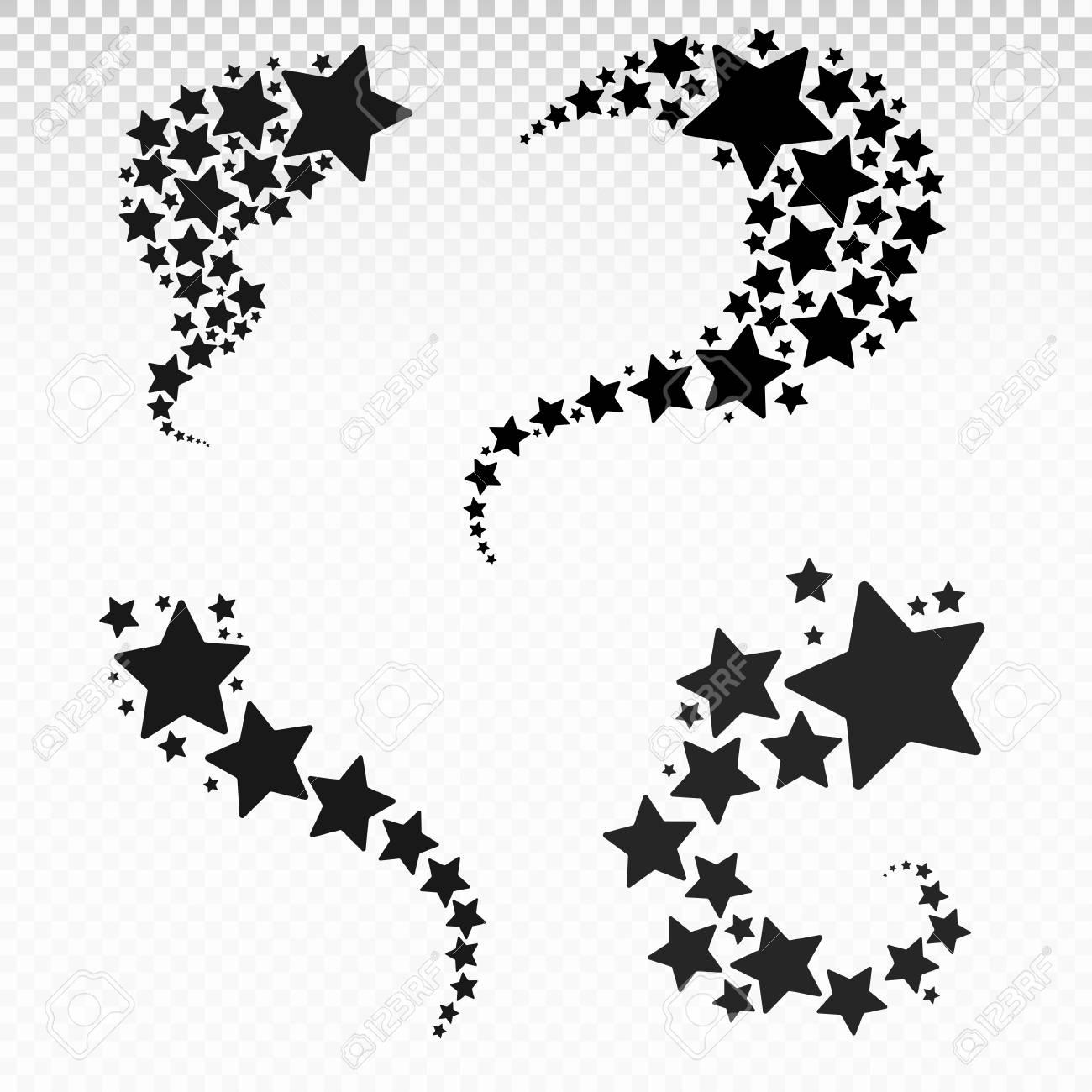 Set of Stars. Star design tattoos. Vector illustration. Isolated..