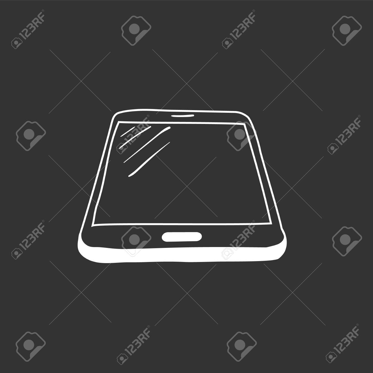 Hand drawn sketch of mobile phone, mockups