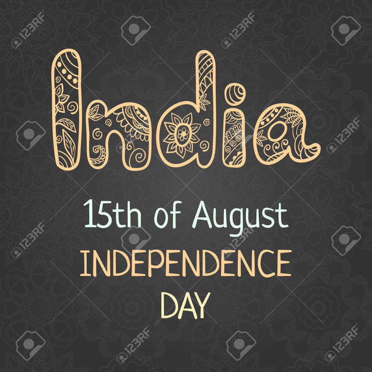 Indian Independence Day 15 August Elegant Greeting Card With Royalty Free Cliparts Vectors And Stock Illustration Image 59253004