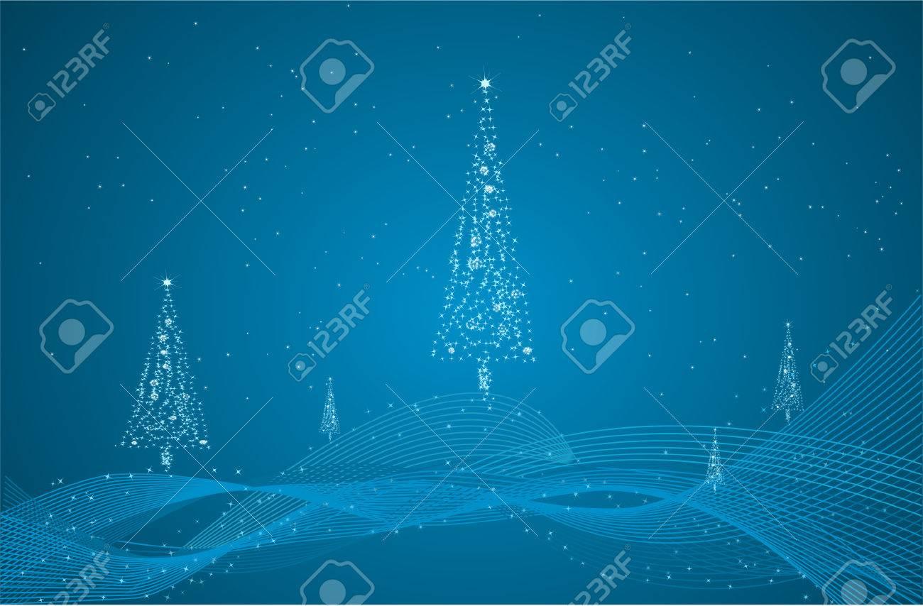 El Azul Hermoso Del Año Nuevo Nochevieja Con Tarjeta De Resumen De