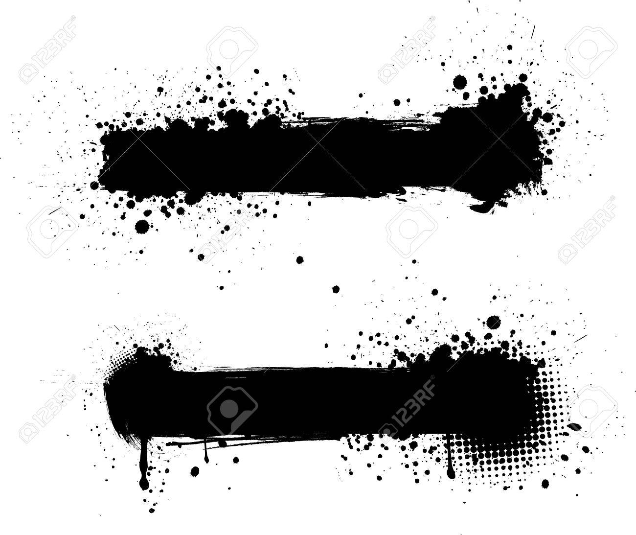 Grunge black banners for yours designs Stock Vector - 8986808