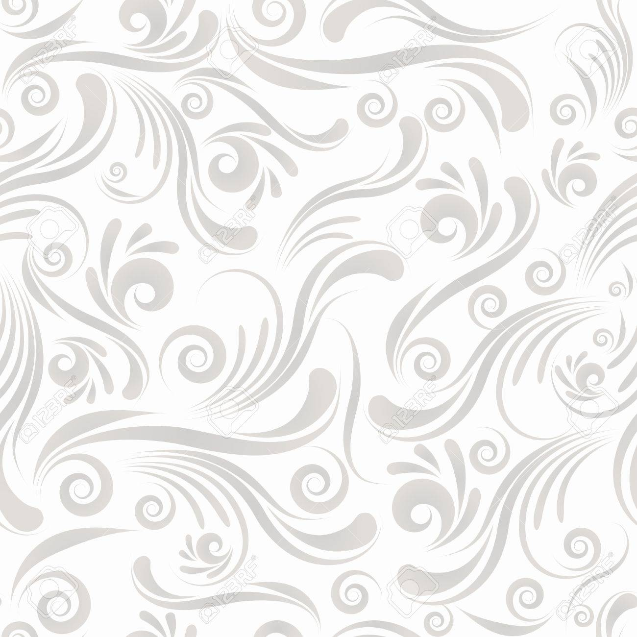 Gray seamless swirl ornament for yours design Stock Vector - 9471888
