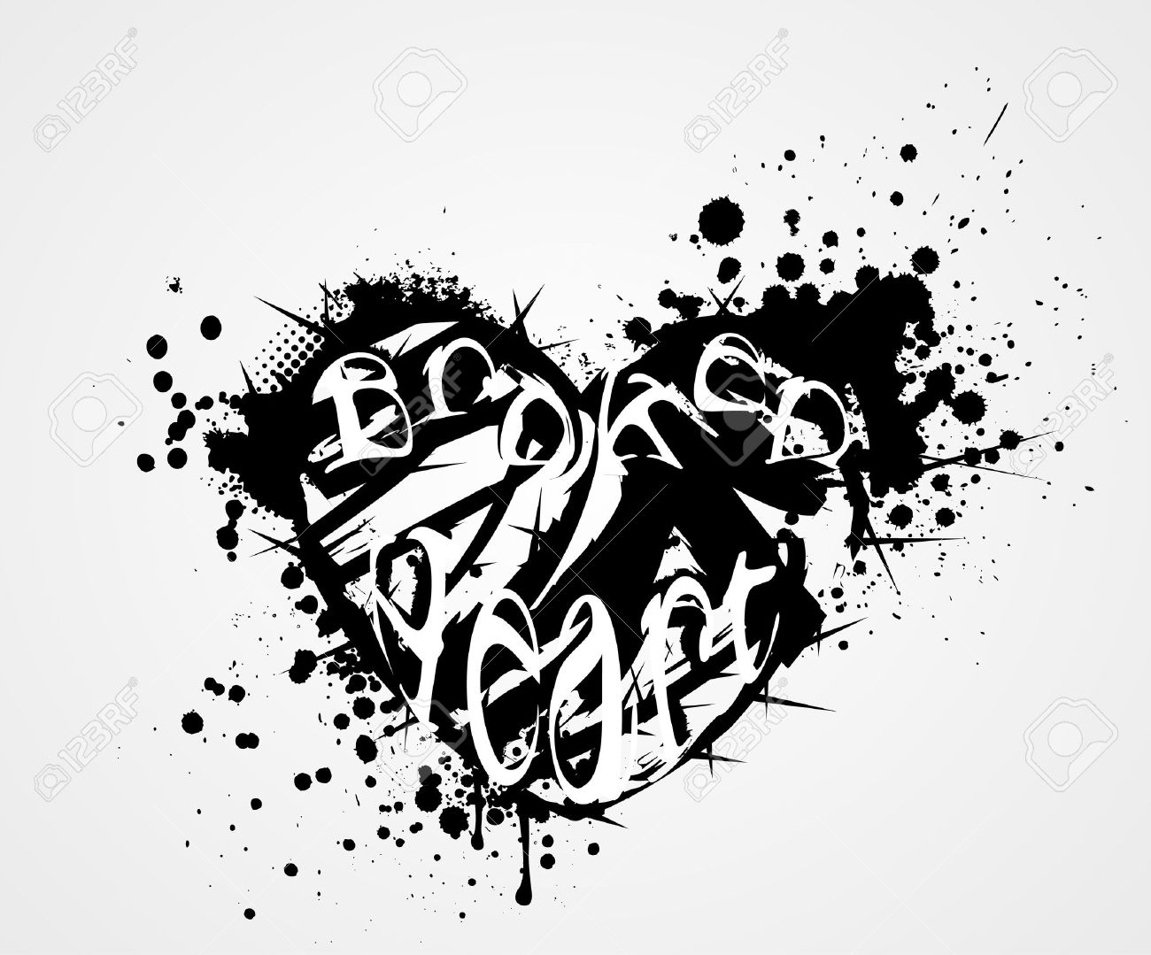 Grunge heart with broken heart symbol and thorns royalty free grunge heart with broken heart symbol and thorns stock vector 20503753 buycottarizona
