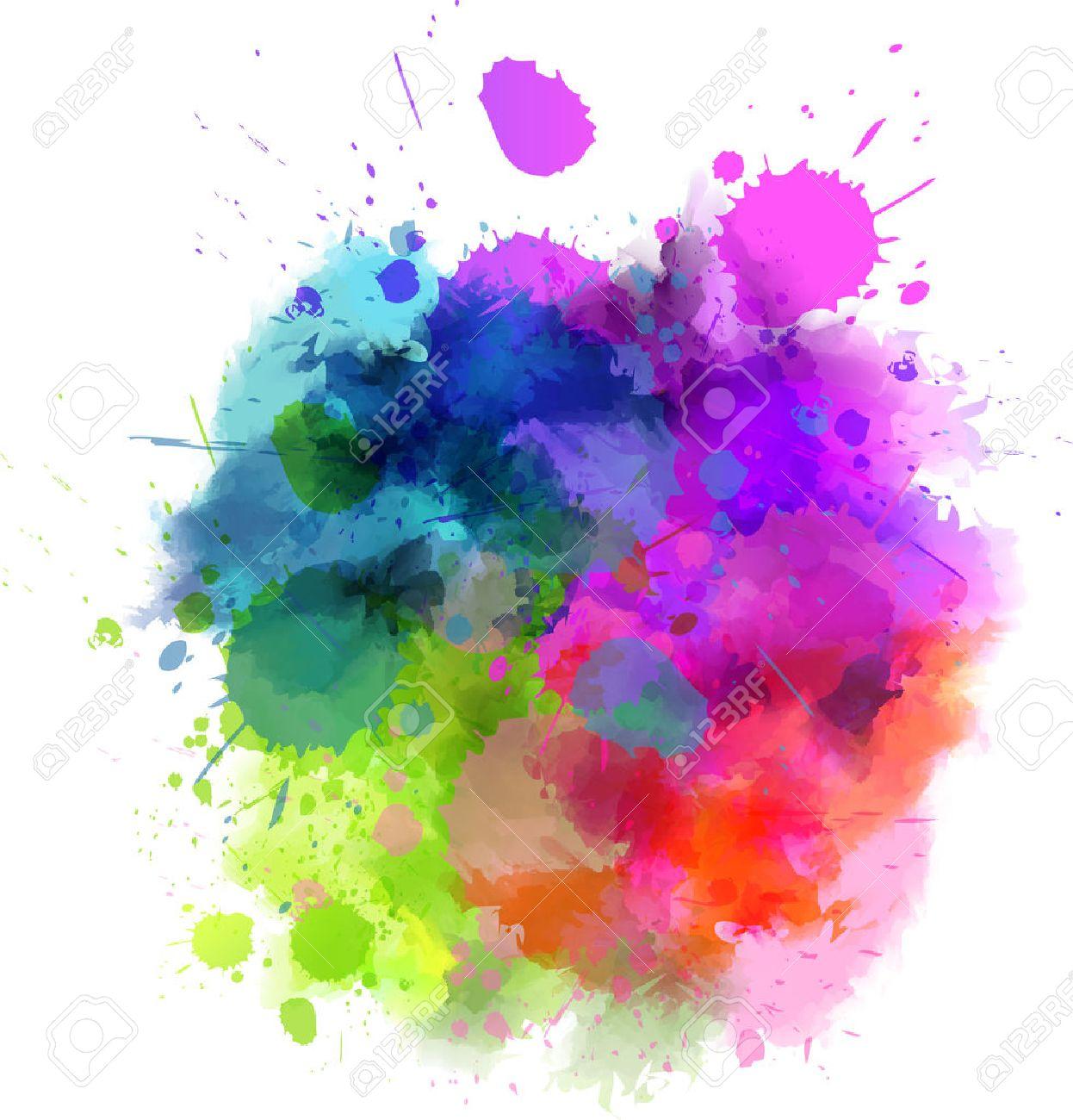 Как сделать на цветные пятна