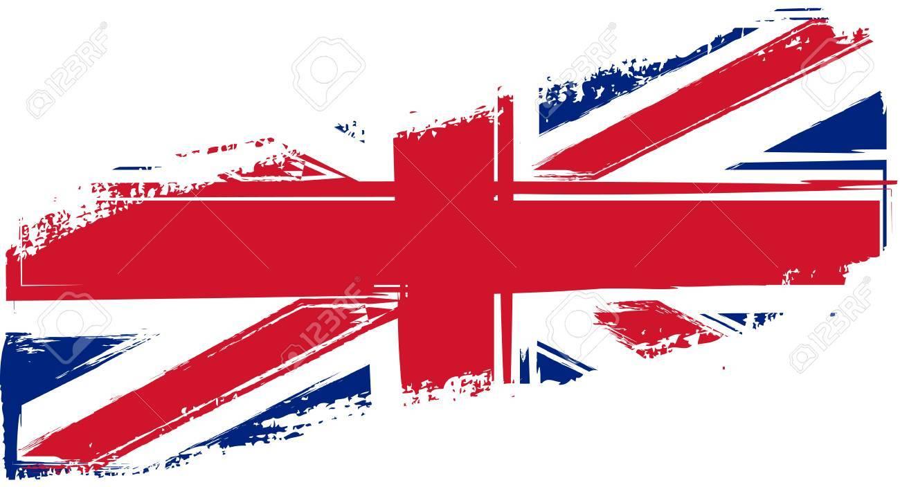 Grunge Bandera Del Reino Unido Para Su Diseño Ilustraciones ...
