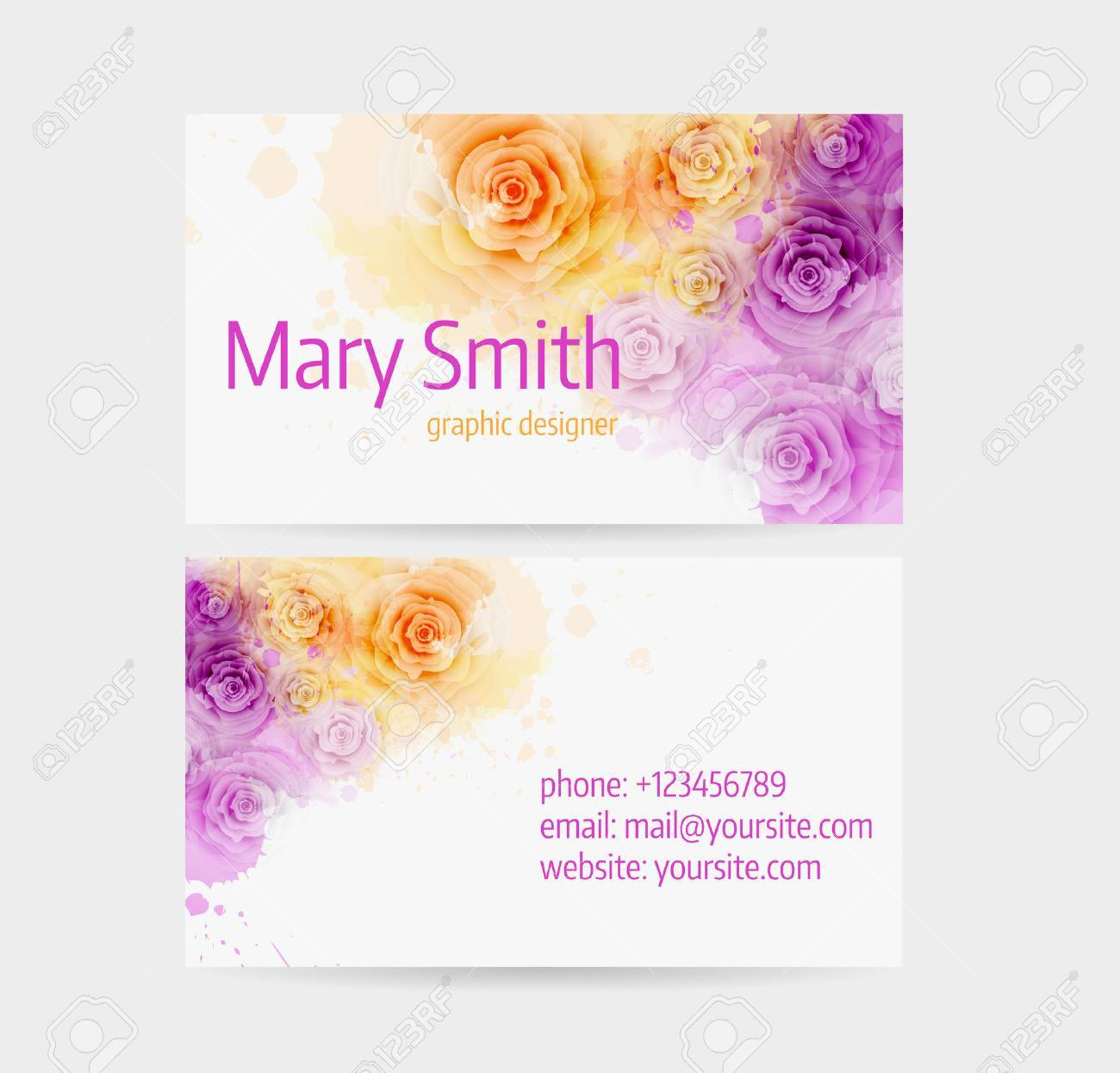 Business Card Template Front