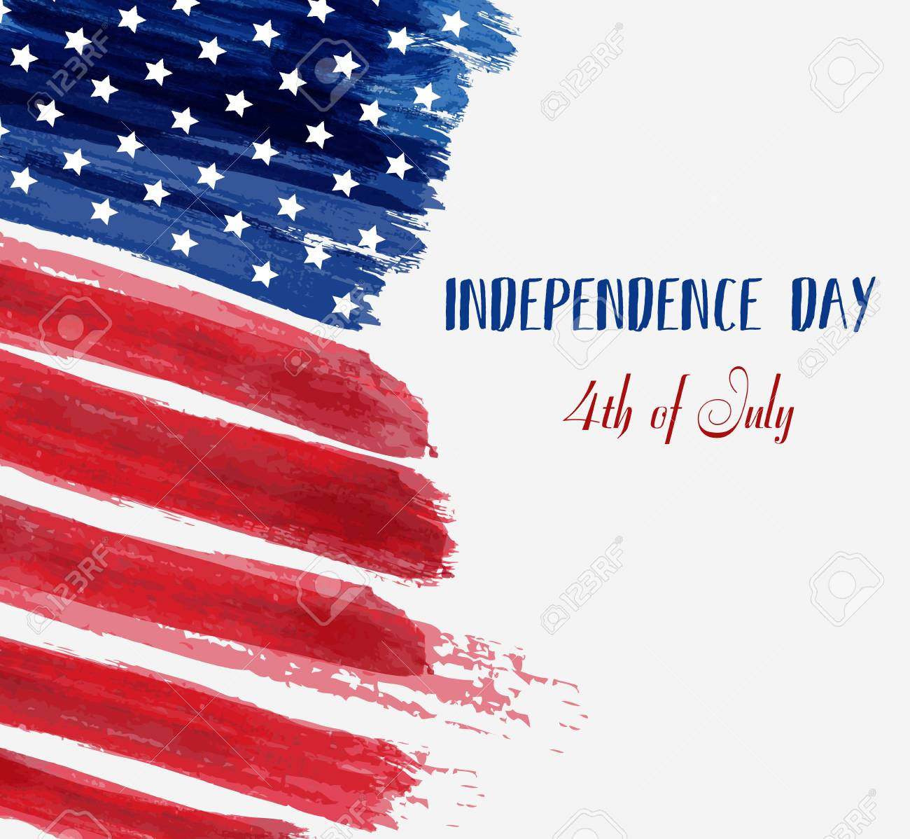 Usa Independence Day Background Happy 4th Of July Vector Abstract
