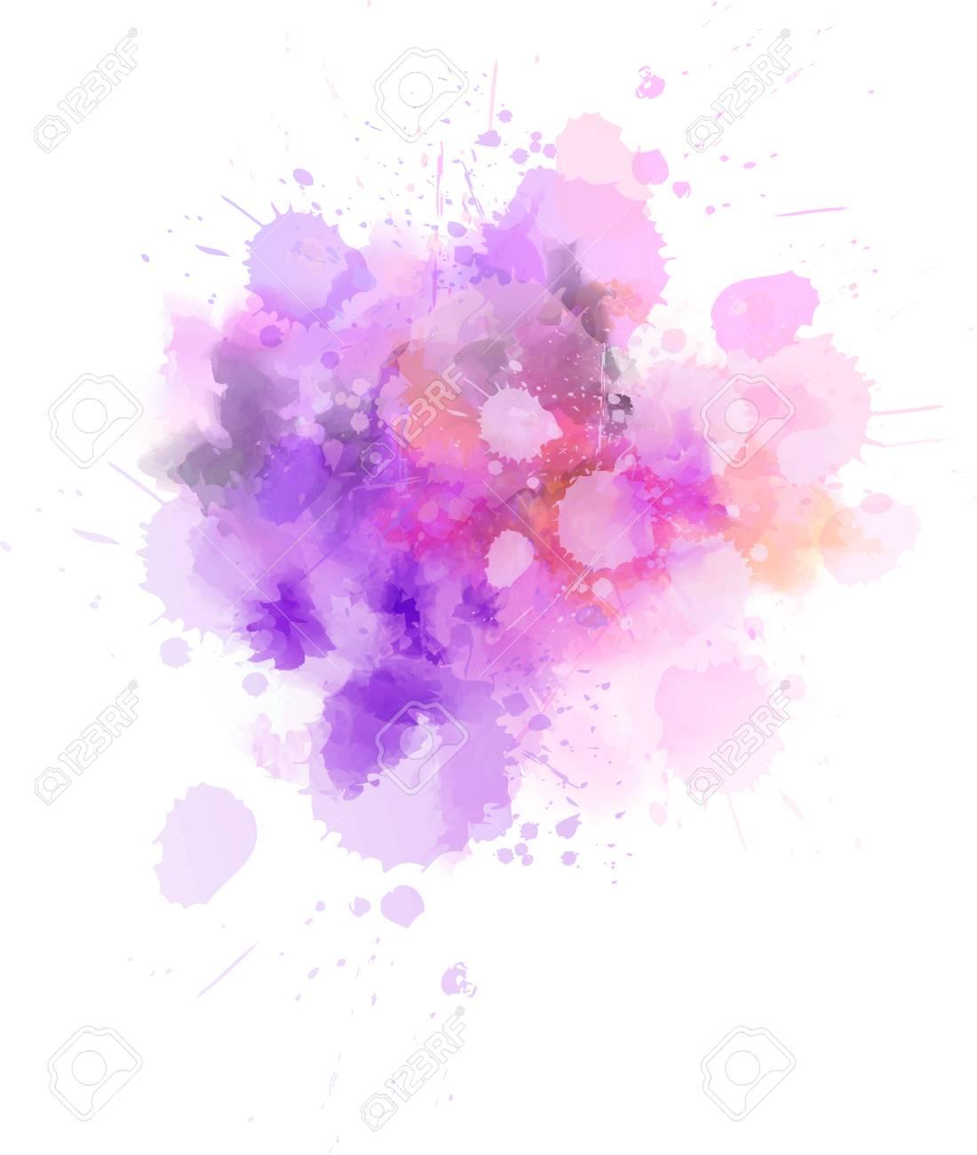 Pastel light watercolor paint splash. Template for your designs - 126542360